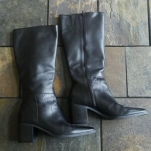 Chinese Laundry Leather Knee High Black Boots